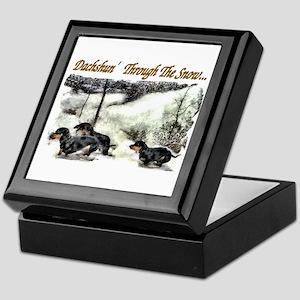 Dachshund Christmas Keepsake Box