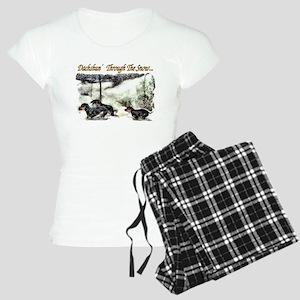 Dachshund Christmas Women's Light Pajamas
