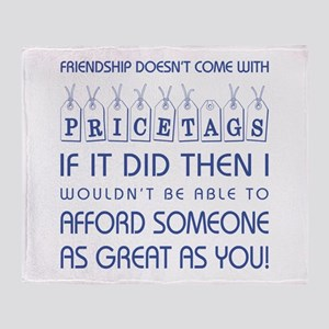 PRICETAGS Throw Blanket
