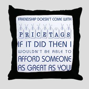 PRICETAGS Throw Pillow