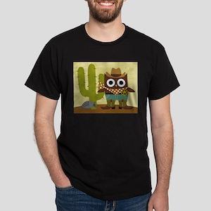 cowboy owl Dark T-Shirt