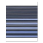 Blue and Grey Stripes Pattern Small Poster