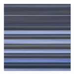 Blue and Grey Stripes Pattern Square Car Magnet 3