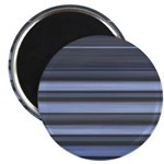 Blue and Grey Stripes Pattern Magnet