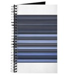 Blue and Grey Stripes Pattern Journal
