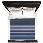Blue and Grey Stripes Pattern King Duvet