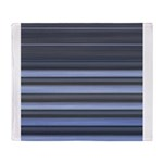 Blue and Grey Stripes Pattern Throw Blanket
