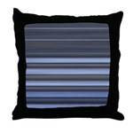 Blue and Grey Stripes Pattern Throw Pillow