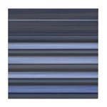 Blue and Grey Stripes Pattern Tile Coaster