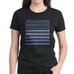 Blue and Grey Stripes Pattern Women's Dark T-Shirt