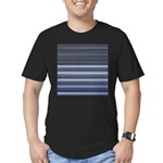 Blue and Grey Stripes Pattern Men's Fitted T-Shirt