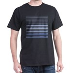 Blue and Grey Stripes Pattern Dark T-Shirt