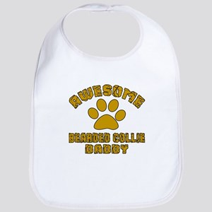 Awesome Bearded Collie Daddy Cotton Baby Bib