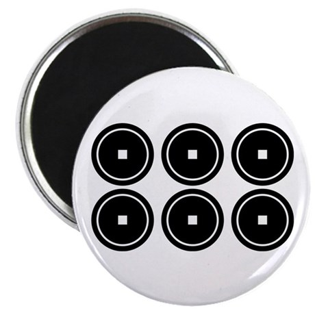 """Six coins for the Abe family 2.25"""" Magnet (100 pac"""