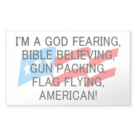 God Fearing American Sticker (Rectangle)