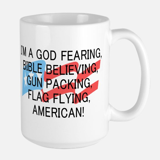 God Fearing American Large Mug