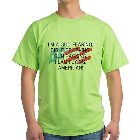 God Fearing American Green T-Shirt