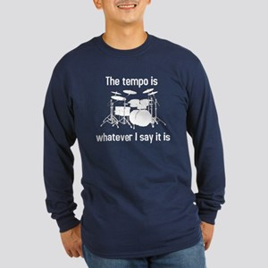 The tempo is Long Sleeve Dark T-Shirt