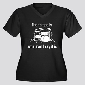 The tempo is Women's Plus Size V-Neck Dark T-Shirt