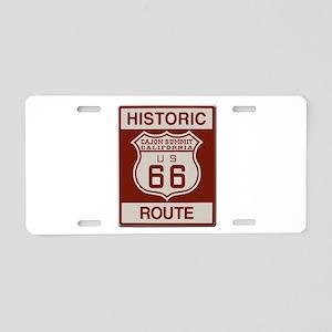 Cajon Summit Route 66 Aluminum License Plate