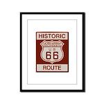 Cajon Summit Route 66 Framed Panel Print