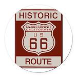 Cajon Summit Route 66 Round Car Magnet