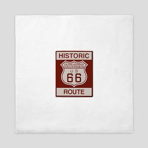 Cajon Summit Route 66 Queen Duvet