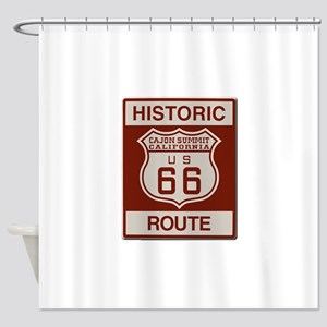 Cajon Summit Route 66 Shower Curtain