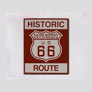 Cajon Summit Route 66 Throw Blanket