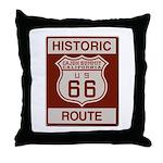 Cajon Summit Route 66 Throw Pillow