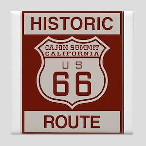 Cajon Summit Route 66 Tile Coaster