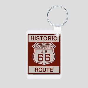 Cajon Summit Route 66 Aluminum Photo Keychain