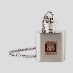 Cajon Summit Route 66 Flask Necklace