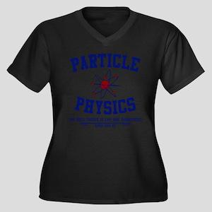 Particle Physics Women's Plus Size V-Neck Dark T-S