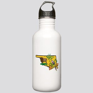 Oklahoma Map Stainless Water Bottle 1.0L