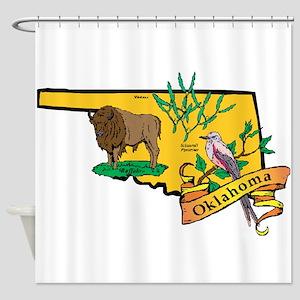 Oklahoma Map Shower Curtain