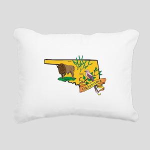 Oklahoma Map Rectangular Canvas Pillow
