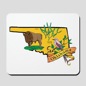 Oklahoma Map Mousepad