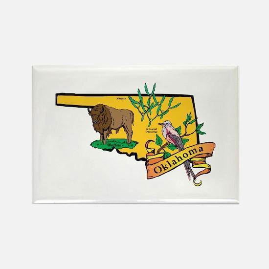 Oklahoma Map Rectangle Magnet