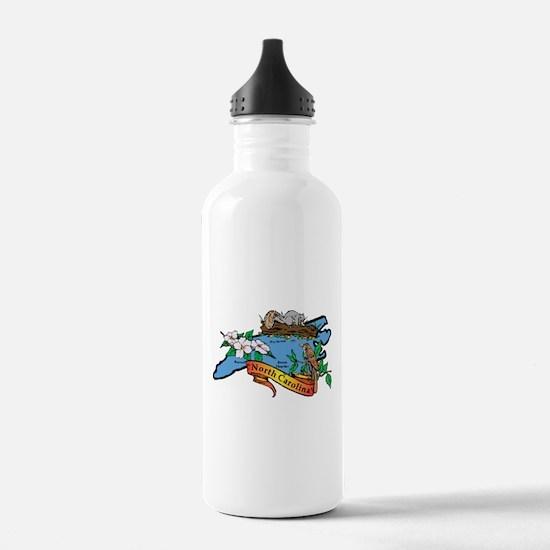 North Carolina Map Water Bottle