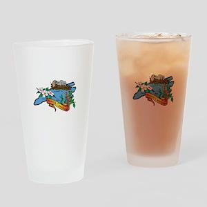 North Carolina Map Drinking Glass