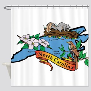 North Carolina Map Shower Curtain