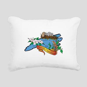 North Carolina Map Rectangular Canvas Pillow