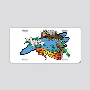 North Carolina Map Aluminum License Plate