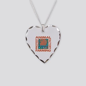 Factory Farming Necklace Heart Charm