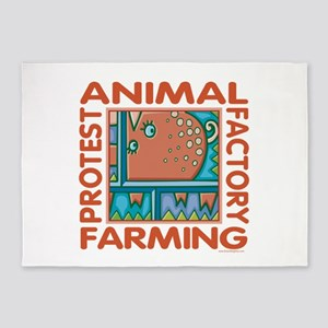 Factory Farming 5'x7'Area Rug