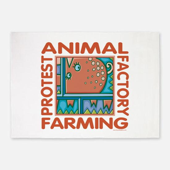 Factory Farming 5'x7'Area Rug