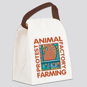 Factory Farming Canvas Lunch Bag