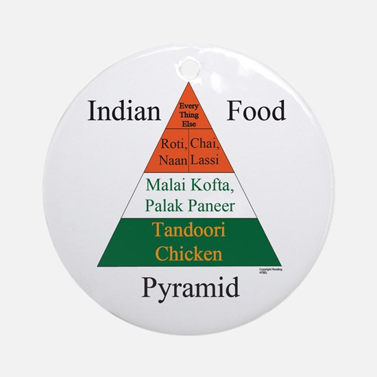 Indian Food Pyramid Ornament (Round)
