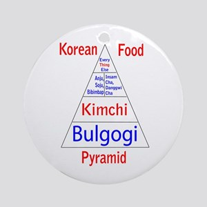 Korean Food Pyramid Ornament (Round)